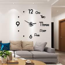 3d wall sticker clock onhmo