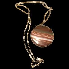 branded agate large pendant necklace