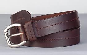center stitch leather belt brown 6825