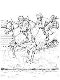 Paarden Springen Over Een Haag Kleurplaat Gratis Kleurplaten Printen