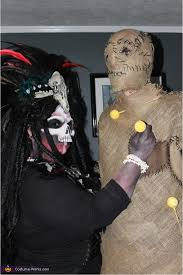 voodoo priestess and voodoo doll