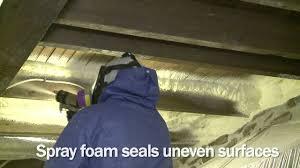 insulating a floor with spray foam