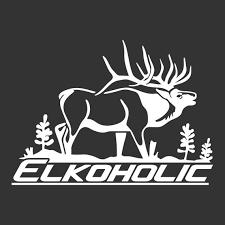 Elkoholic Elk Hunting Decal Hi 03 Etsy