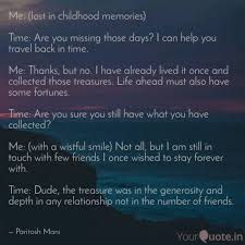 me lost in childhood me quotes writings by paritosh mani