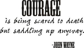 Decalgeek Courage John Wayne Quote Vinyl Wall Decal Etsy