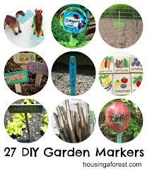 27 diy garden markers housing a forest