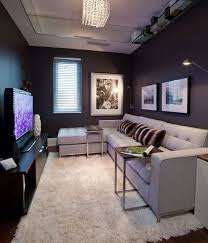 Small Den Designs You Ve Included A Wonderful Sectional Sofa With Tv Tables Tucked Narrow Living Room Small Living Room Decor Small Living Room Layout