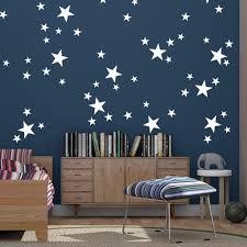 80 Mixed Size White Stars Wall Art Stickers Decals Confetti Stars Ramutes On Artfire