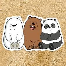 We Bare Bears Cubs Panda Grizzly Ice Bear Car Window Wall Die Cut Decal Sticker Ebay