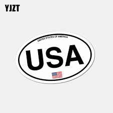 Yjzt 10 5cm 6 5cm Funny Oval Usa America Country Code Car Sticker Window Helmet Decal 6 2638 Car Stickers Aliexpress
