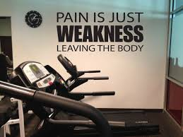 Gym Motivation Essentials Wall Decal Pain Is Just Weakness Leaving The Body