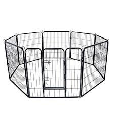 Tammible 8 Panels 80 Cm 31 Height Metal Large Pet Dog Fence Portable Outdoor Kennel Cage For Outdoor Garden Buy Products Online With Ubuy Kuwait In Affordable Prices B07q5b3vjb