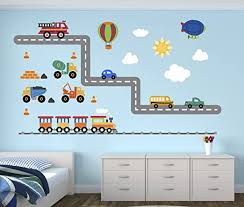 Amazon Com Pinkie Penguin City Transportation Wall Decal Room Boys Kids Decor Personalized Gift Vinyl Art Home Kitchen