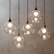 firefly 5 bulb black pendant light