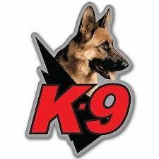 Caution K9 Decal Car Truck Window Bumper Sticker Police K9 Force Dogs Cops Rainbowlands Lk