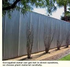 Great Garden Walls Eichler Network Corrugated Metal Fence Corrugated Metal Garden Wall