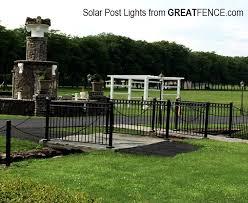 Solar Post Lights Great Fence