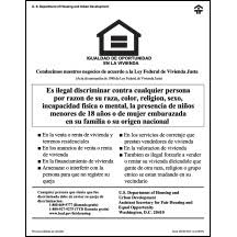 Equal Housing Opportunity Hud V2 Spanish Digital Print Mfblouin