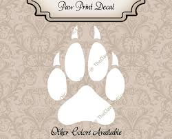 Wolf Paw Print Decal Dog Paw Print Decal Wolf Window Decal Etsy