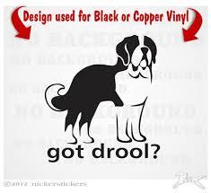 Saint Bernard Dog Decals Stickers Nickerstickers