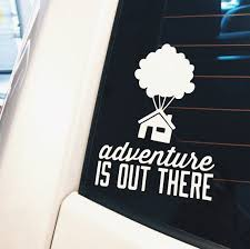 Adventure Is Out There Up Window Decal Vinyl Decal Happily Ever Tees Decal For Computer Ipad Laptop Car Win Vinyl Decals Window Decals Silhouette Crafts