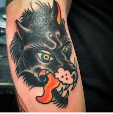 Traditional wolf by Aaron Roberts, Black Sword Alliance in Muncie ...