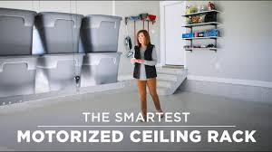 overhead racks as garage storage solutions