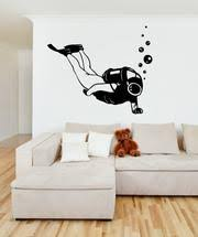 Vinyl Wall Decal Sticker Scuba Diver Os Mb630 Stickerbrand