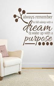 Purpose Dream Wall Quote Home Decor Idea Affiliate Living Room Decal Sticker Inspirational Quotes Ide Wall Decals For Bedroom Wall Decals Bedroom Wall