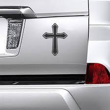 Ornate Christian Church Cross Sticker