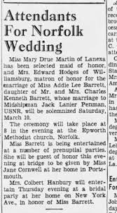 Marriage of Addie Lee Barrett to Jack Lanier Penman - Newspapers.com