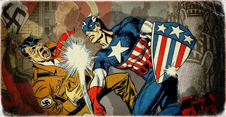 """Resultado de imagem para Capitão América contra o Nazismo"""""""