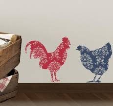 Country Rooster And Chicken Vinyl Decal Set Tweet Heart Home Design