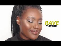 rave makeup metallic brows tutorial