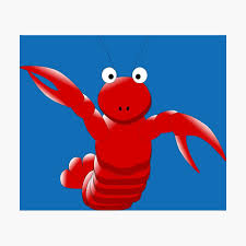 Cute Funny Cartoon Sea Ocean Lobster ...