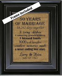gifts for a 50th wedding anniversary