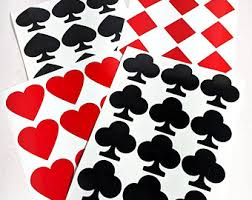 Playing Card Decal Etsy