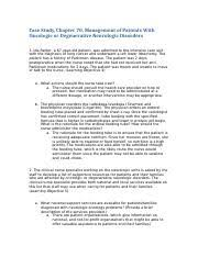 CS_Ch70.docx - Case Study Chapter 70 Management of Patients With Oncologic  or Degenerative Neurologic Disorders 1 Ida Parker a 67-year-old patient was    Course Hero
