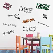 com assorted inspirational wall quotes decals for kids