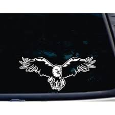 Amazon Com Soaring Eagle 11 1 4 X 5 Die Cut Vinyl Decal For Window Car Truck Tool Box Virtually Any Hard Smooth Surface Automotive