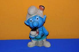 garden gnome with pipe peyo dupuis
