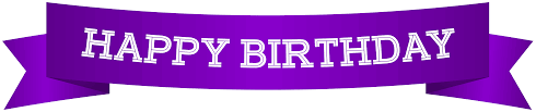 Happy Birthday Banner Purple Png Clip Art Image Gallery Yopriceville High Quality Images And Transparent Png Free Clipart