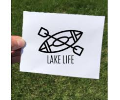 Vinyl Decal Lake Life Kayak The Local Store
