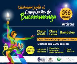 Celebremos Juntos El Cumpleanos 396 De Bucaramanga Imct