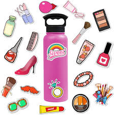 2020 Pack Of Wholesale Pink Girls Makeup Set Stickers Woman Lady Dressing Makeup Decal Laptop Skateboard Motor Bottle Car Decal Bulk From Autoparts2006 2 12 Dhgate Com