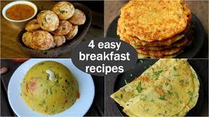 4 easy veg breakfast recipes quick