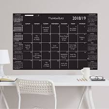 Wpe2785 Black Academic 2018 19 Dry Erase Calendar Decal By Wallpops