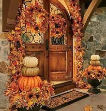 Love the doors love everything beautiful pumpkin topiaries (With images) |  Fall outdoor decor, Autumn decorating, Fall door decorations