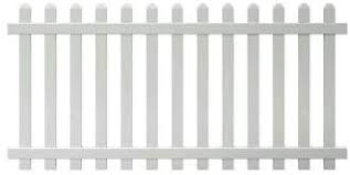 Amazon Com 4 Ft X 8 Ft Vinyl Glendale Spaced Picket Fence Panel With Dog Ear Pickets Unassembled Garden Outdoor