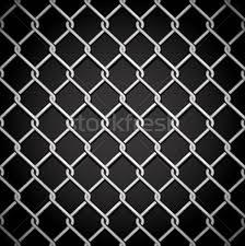 Metal Fence On A Dark Background No Gradient Mesh Only Contour Vector Illustration C Olgayakovenko 2626469 Stockfresh